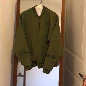 Olive green adidas sport jacket